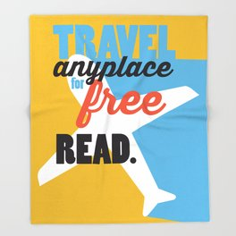 Travel - Just Read Throw Blanket