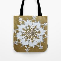 golden Tote Bags featuring Golden by Aries Art