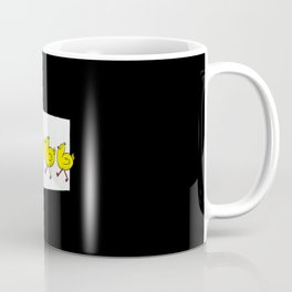 Worm with chickens and speech bubble Coffee Mug