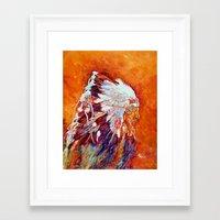 native american Framed Art Prints featuring Native American by LiliyaChernaya