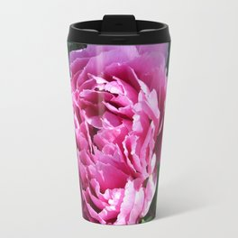 Beautiful Pink Peony Photo Travel Mug