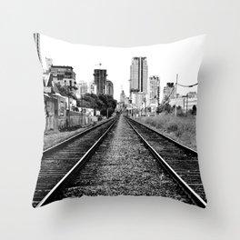 Road to progress Throw Pillow