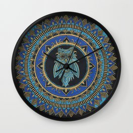 Blue Moon Owl Wall Clock