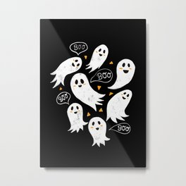 Friendly Ghosts Metal Print