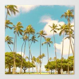 Tall Palms Hawaii Photography Canvas Print