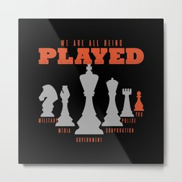 Chess, Chess Queen, Chess Bishop Metal Print