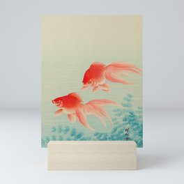 Ohara Koson Gold Fish Japanese Woodblock Print Vintage Historical Japanese Art Mini Art Print