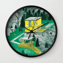 Night Houses Wall Clock