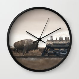 Plains Game II Wall Clock