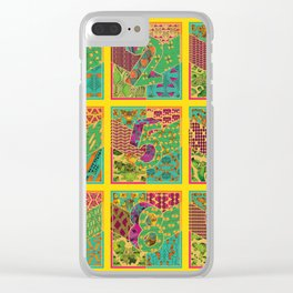 Tiles 1-9 - Yellow Clear iPhone Case