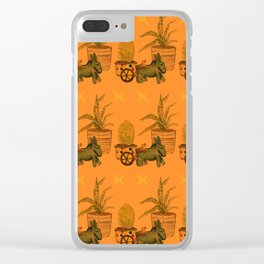 Garden Donkey Clear iPhone Case
