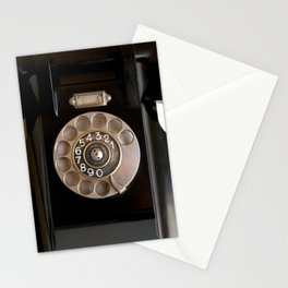 OLD BLACK PHONE Stationery Cards