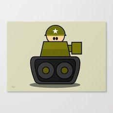 Little Soldiers Tank Military Art, Military Wall Art for Boys Room Nursery Decor Canvas Print
