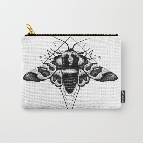 Geometric Moth Carry-All Pouch