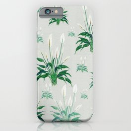 peace lily painting iPhone Case