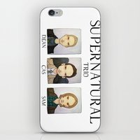 supernatural iPhone & iPod Skins featuring SUPERNATURAL by Space Bat designs