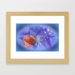 Fish world Framed Art Print