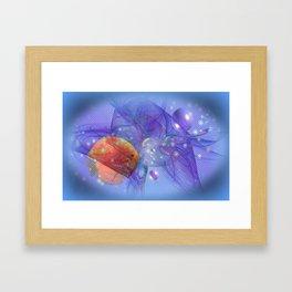 Fish world Framed Art Print