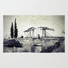 Vincent Van Gogh - Drawbridge at Arles 2 (Vintage) Rug