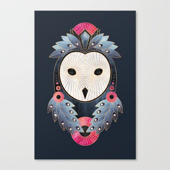 Owl 1 - Dark Canvas Print