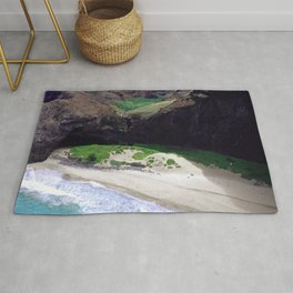 For Angels, Only: Divine Tropical White Sand Beach Rug