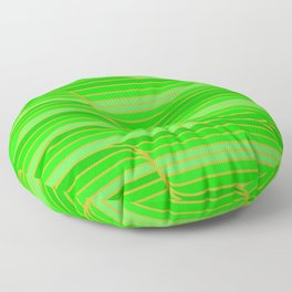Geo Stripes - Green Floor Pillow