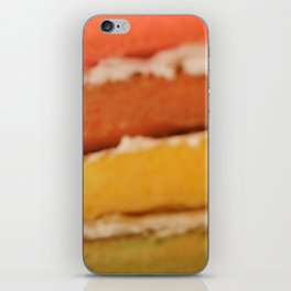 rainbow cake iPhone Skin