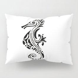 seahorse tatoo white Pillow Sham