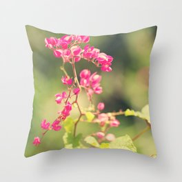 Flowered Rhapsody in Pink Throw Pillow