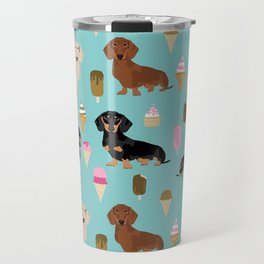 dachshund ice cream multi coat doxie dog breed cute pattern gifts Travel Mug