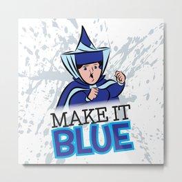 """Merryweather """"Make It Blue"""" / Sleeping Beauty Metal Print"""