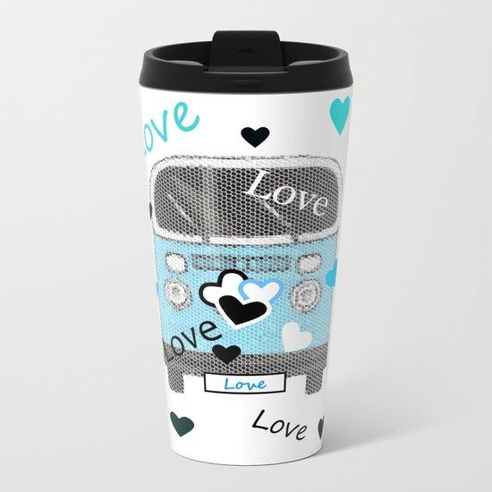 Love Bus Metal Travel Mug