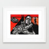 biggie Framed Art Prints featuring BIGGIE  by NICHOLAS PRICE ART PRINTS