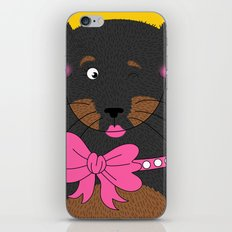 Dog Love,  kids wall art, Cute, fun prints of animals in love, Mix and Match Them!! iPhone & iPod Skin