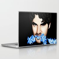 darren criss Laptop & iPad Skins featuring Darren Criss by weepingwillow