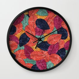 Let the Leaves Fall #05 Wall Clock