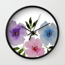 Floral Fanciness... Wall Clock
