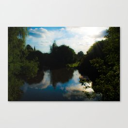 Lights in the park Canvas Print