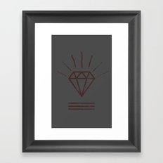 Royal Diamond Framed Art Print