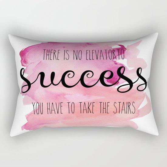 No elevator to success Rectangular Pillow