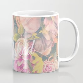 Get Naked Floral Coffee Mug