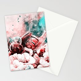 two snails make love ws2s Stationery Cards