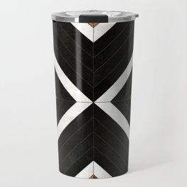 Urban Tribal Pattern 1 - Concrete and Wood Travel Mug