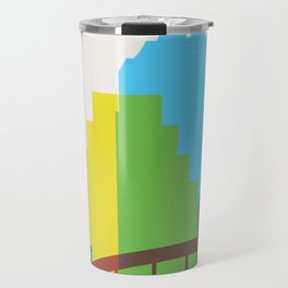 Shapes of Austin. Accurate to scale. Travel Mug