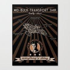 Mid bulk transport ship poster Canvas Print