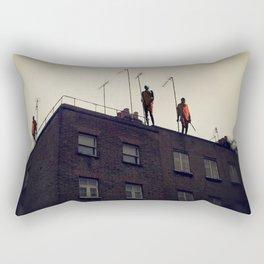 Roof Top Masai Warriors Rectangular Pillow