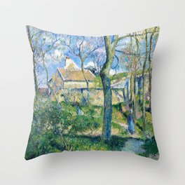 Camille Pissarro - The Path To Les Pouilleux, Pontoise - Digital Remastered Edition Throw Pillow