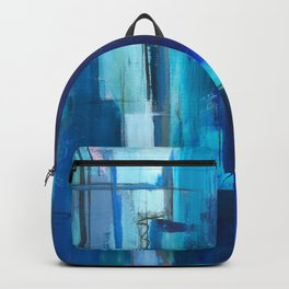 Blue Geometry Backpack