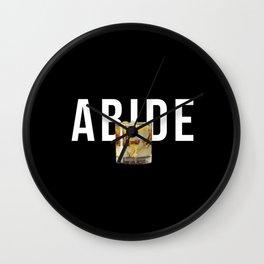 The Dude Abides Wall Clock