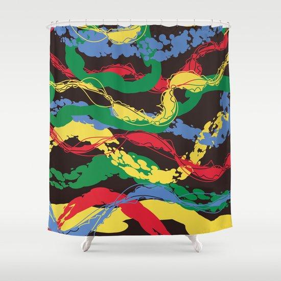 Plastic Dawn Shower Curtain